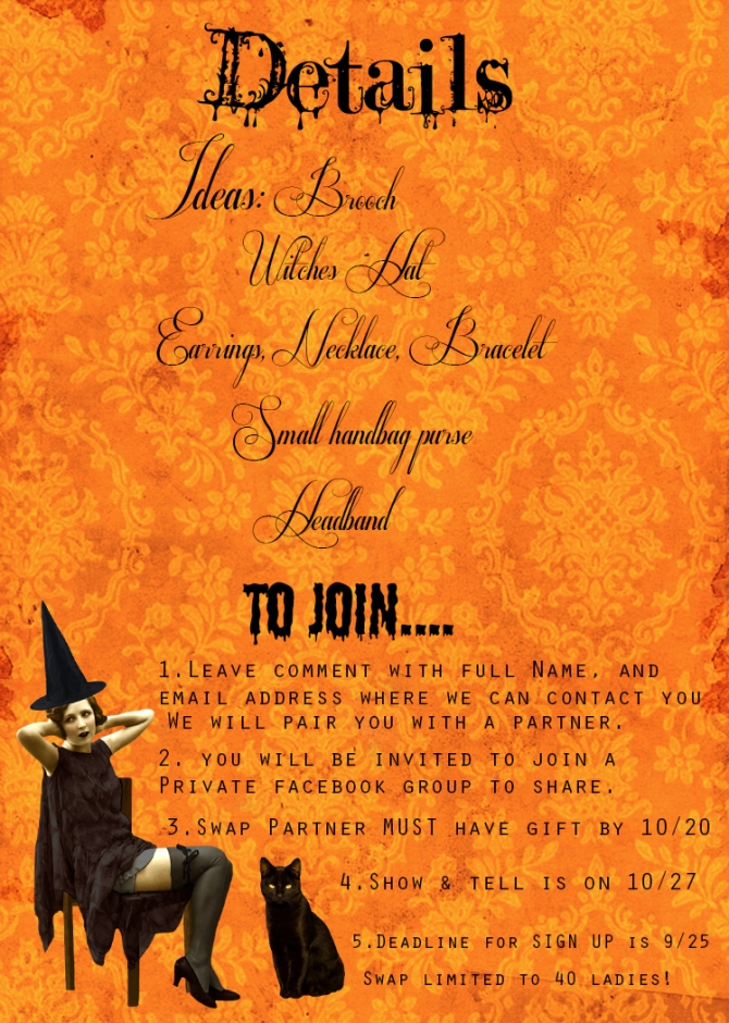 halloweenswapdetails Ghouls, Ghost and Glamour Girls Swap